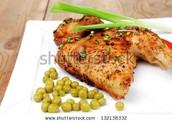 El Pollo y los guisantes - $6.50