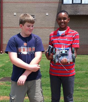 Drag Racer Robots in Robotics Camp Last Week