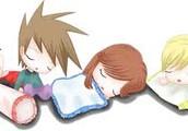 beautiful sleep with friends