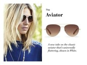 Chevron Aviators White