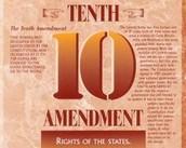 Amendment #10 Limited federal power