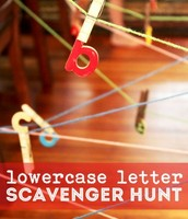 Lower case scavenger hunt