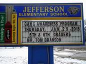 Jefferson School Marquee