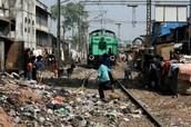 Mumbai slums (train)