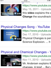 Physical change video