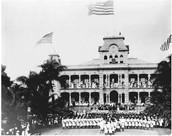 U.S. Navy protect the Iolani Palace