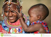 A Maasai mother