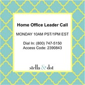 Star Stylist+ Leader Call with the Home Office is TODAY!