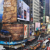 Toyota's Rock Climbing Wall in Times Square (US)