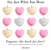 Valentine's Day Special! Double sided engraved hearts! Design your own!