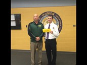 Mr. Borja being recognized by a former student.