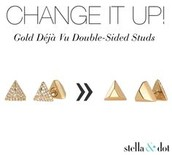 Deja Vu Studs: Silver, Gold or Rose Gold Available!