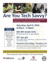 Tech Savvy (formerly Girls Science day)