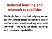 Reduced Learning Capabilities