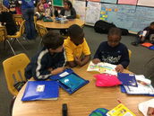 Literacy pals with N. Jefferson and J. Sparkman's classes.