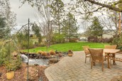 Luxurious and Manicured Yard Area with Waterfeatures