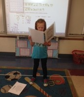 Libby presenting her Poet of the Week.