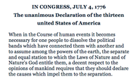 The opening line of the Declaration