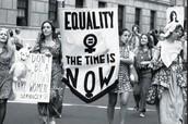 Women celebrating equality