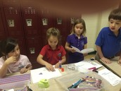 Making Valentines for our military!