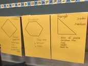 1st grade students are working on geometric shapes.