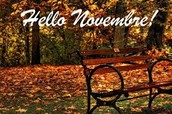 UPCOMING NOVEMBER ACTIVITIES!
