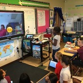 Mystery Skype with a class from Indianapolis, Indiana.