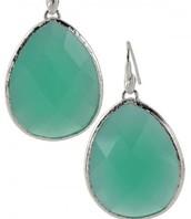Serenity Stone Earrings - Aqua