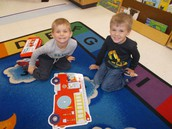 Putting together the firetruck puzzle as a team
