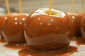 enjoy a caramel apple