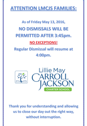 NEW Early Dismissal Policy Enforcement