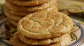 The delectable result! Enjoy your gooey snickerdoodles!