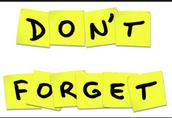 Upcoming Reminders