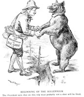 Political Cartoon showing TR and his relationship with nature