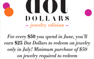 $25 FREE When you Shop in June