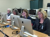 Para-Pros at BMES learning new technology skills!