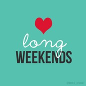 """Inspired this week by """"the weekend"""""""