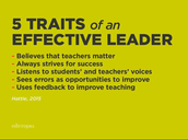 Five Traits of an Effective Leader