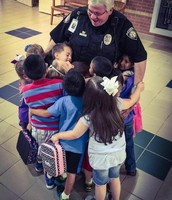 Officer Danny and East Students