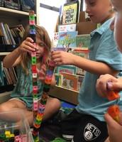 Exploring measurement with Unifix cubes!