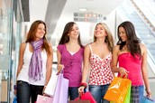 Don't shop with friends who spend a lot
