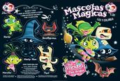 Libro para colorear + Stickers - Mascotas Mágicas
