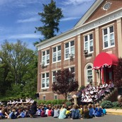 What a beautiful day it was to watch the raising of our brand new National Blue Ribbon School flag!