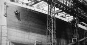 Here is the titanic under construction.