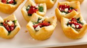 Tomato and Basil filled Bread Bites