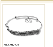 Alex and Ani quill feather bracelet