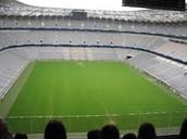 Innen die Allianz Arena