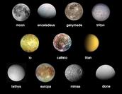 Moons on Jupiter