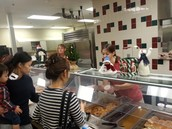 OUR CAFETERIA STAFF SERVING OUR STUDENTS AND PARENTS