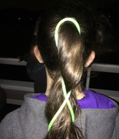 """One of my friends """"braided"""" a glowstick into her hair"""